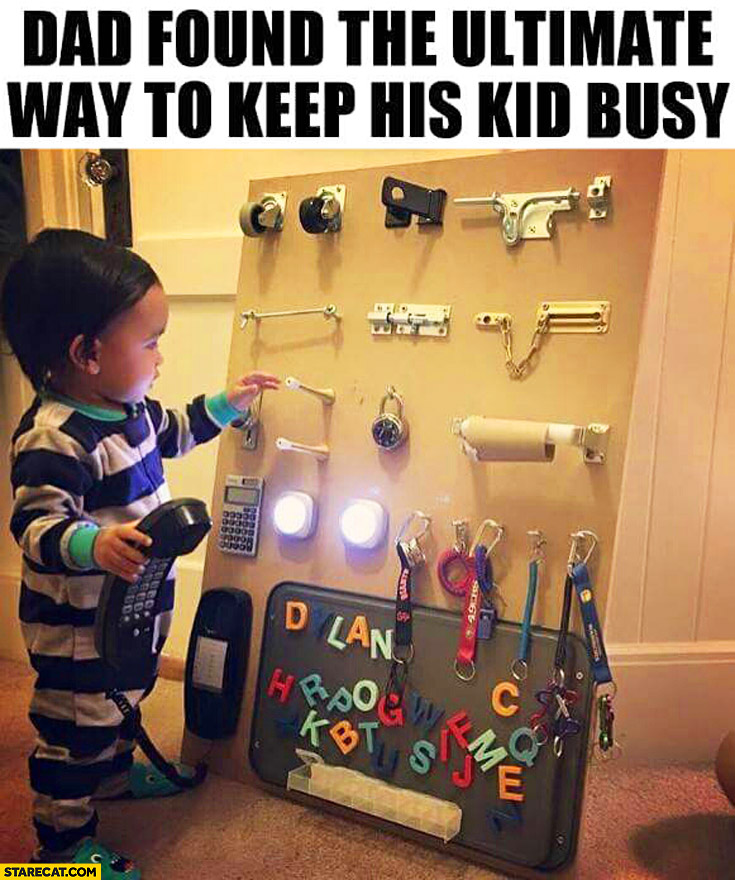 dad-found-the-ultimate-way-to-keep-his-kid-busy-wall-with-moving-parts