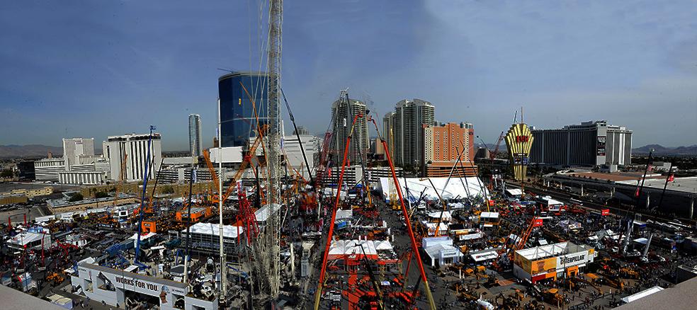 Conexpo outdoor exhibition panorama